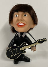 BEATLES GEORGE HARRISON HARD BODY REMCO SELTAEB DOLL 1964 WITH INSTRUMENT NICE!