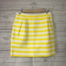 Kate Spade Womens White Yellow Striped Skirt Pegged Casual Career Spring Size 8