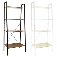 4 Tier Ladder Shelving Unit Office Storage Bookcase Shelf Plant Display Stand