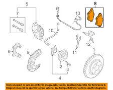 AUDI OEM 06-09 A4 Quattro Brake-Front Pads 8E0698151G
