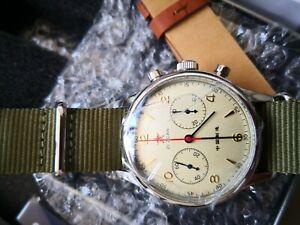 Seakoss Seagull ST1901 1963 Machanical Pilot Chronograph 40mm watch