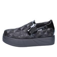 scarpe donna JEANNOT 35 mocassini slip-on nero paillettes BX129-35
