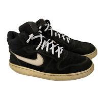 Men's Nike Court Borough Mid (838938-010) Basketball Shoes Black/White Size 10.5