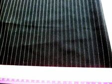 "Woven polyester fabric-blackwith white pin stripe(skirt weight fabric) 28""x60"""