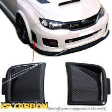 Carbon Fiber Front Side Replace Vent Cover Set Fit 08-12 Subaru WRX STI GR-B 5DR