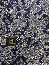 Navy Paisley 100 Viscose Summer Printed Dress Fabric.