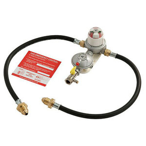 AUTOMATIC CHANGEOVER KIT LPG PROPANE TWO BOTTLE 2 GAS CYLINDER REGULATOR & HOSES
