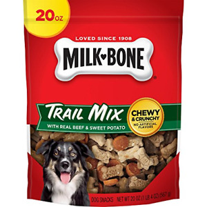 Milk-Bone Trail Mix With Real Beef & Sweet Potato Dog Treats, 20-Ounce