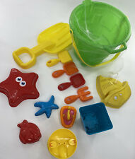 13 Pcs Deluxe Beach Sand Tools Toys Bucket Set For Kids Children Outdoor Toys