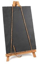 Premium Kitchen Slate Menu Board With Bamboo Easel Stand And Chalk