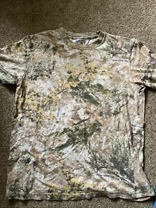 CABELAS Camo Camoflauge T-Shirt Hunting Zone Large L Men