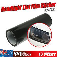 30 x 80CM Light Black Headlight Tint Wrap Car Tail Light Smoke Vinyl Film Sheet