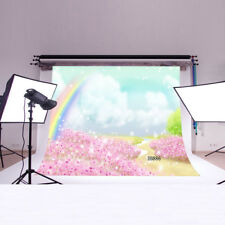 Polyester Photography backdrop Photo Prop Studio Background Rainbow 7X5FT DB886
