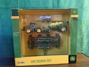 ERTL John Deere AIR SEEDER SET 1/64 Scale, Die-Cast 4 pc Tractor seeder tank NEW