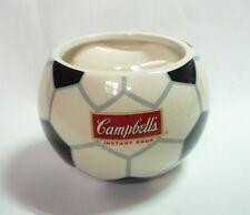 "CAMPBELL'S Instant Soup Ceramic MUG BOWL Malaysia FOOTBALL 3"" Tall 2010"