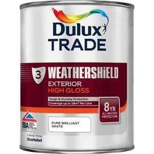 1L Dulux Trade Weathershield High Gloss Brilliant White