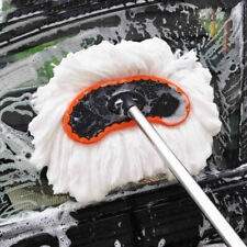 1pc Car Wash Brush Tool Adjustable Telescopic Cleaning Wiping Soft Milk Silk Mop