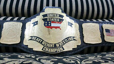 WCW United States Heavyweight Champion Belt Genuine Leather 2MM Plates Replica