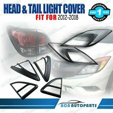 Matt Black Head Light & Tail Lamp Cover for Mazda BT-50 BT50 2012-2018