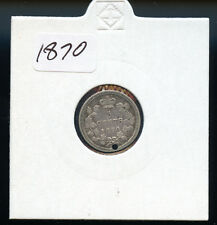 1870 Canada 5 Cents F Holed AB03