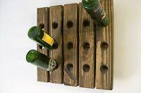 Riddling Rack Handmade Wood Wall Hanging Wine Rack