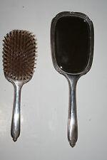Vintage Sterling Brush & Mirror Set monogrammed International Silver 385 grams