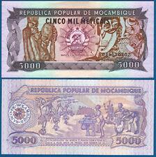 MOSAMBIK / MOZAMBIQUE 5000 Meticais 3.2.1989 UNC P. 133