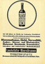 Lauchstädter Mineralbrunnen BRUNNENVERSAND  Historische Reklame von 1913