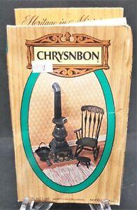 Chrysnbon Pot Belly Stove Rocking Chair Footstool Dollhouse Furniture Kit F-260