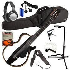 Yamaha SLG200N Silent Guitar - Translucent Black COMPLETE GUITAR BUNDLE