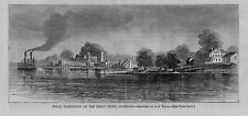 SUGAR PLANTATION ON THE BAYOU TECHE LOUISIANA STEAMBOAT SUGAR 1866 HISTORY