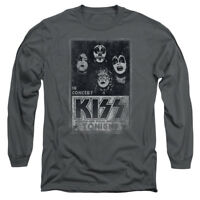 KISS Rock Band LIVE Licensed Adult Long Sleeve T-Shirt S-3XL