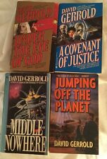 4 PBs by David Gerrold Under The Eye of God A Covenant of Justice Jumping Off