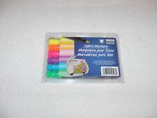 Neon Fabric Markers - Light Or Dark Fabrics -Six Different Colors - Marvy Uchida
