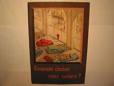 BROCHURE RENAULT COMMENT CHOISIR VOTRE VOITURE ANNEE 30