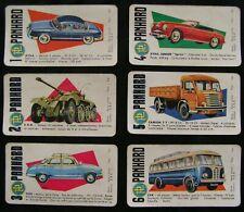 PANHARD - JEU DE 7 FAMILLES - 6 CARTES A JOUER THEME AUTOMOBILE / ANNEES 60