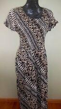 NOTATIONS Smocked Short Sleeve Long Summer Dress 100% Rayon, Size Small