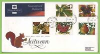 G.B. 1993 Autumn set on Royal Mail First Day Cover, Mountain Ash cds