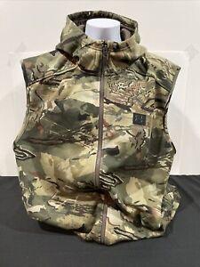 NWT Under Armour Men's Rut Fleece Vest Hoodie Forest Camo 1356288-988 Size XXL
