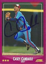 Casey Candaele Montreal Expos 1988 Score Signed Card