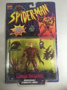 Carnage Unleashed Action Figure from Spider-Man Marvel Comics  Toy-Biz NICE