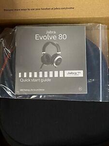 Brand New Jabra EVOLVE 80 Over the Ear Headset - Black