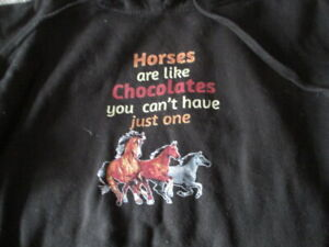 Independent Trading Company Size Small Black Horsey Slogan Hoodie unisex