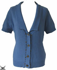 Button Collared Short Sleeve Jumpers & Cardigans for Women