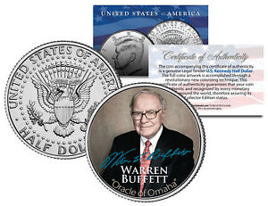 WARREN BUFFETT Most Successful Investor of the 20th Century JFK Half Dollar Coin