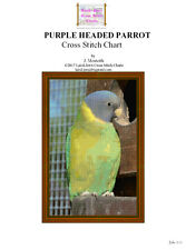 PURPLE HEADED PARROT- cross stitch chart