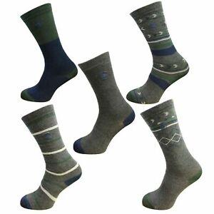 Timberland 5 Pack Mixed Crew Socks Mens Dark Grey A1EIM 010 A187 A188
