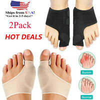 2 Types Big Toe Bunion Splint Straightener Corrector Hallux Valgu Relief Pain US