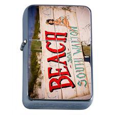 Vintage Poster D241 Flip Top Oil Lighter Wind Resistant Flame Beach South Walton