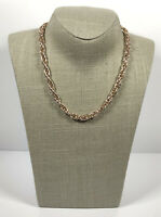 Vintage Necklace Gold Tone Collar Length Chunky Chain Snap Clasp Retro Costume